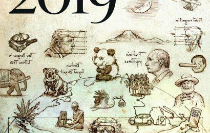 Tradiční titulní stránka The Economist předpovídá hlavní témata roku 2019