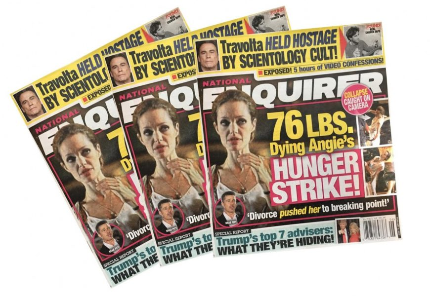 The National Enquirer sold for $100 million to James Cohen