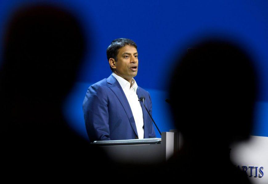 Novartis CEO Narasimhan Defends Company's Decision to Withhold False Data From the FDA
