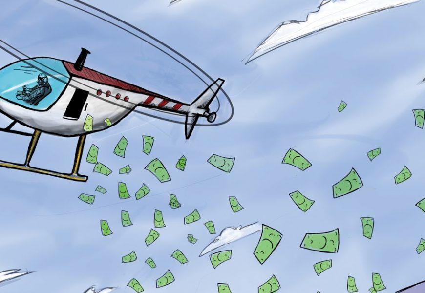 ECB údajně zvažuje helicopter money