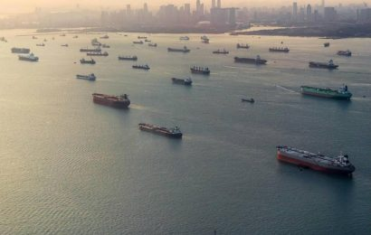 Hundred Fully Loaded Tankers Anchored Off Singapore, BP Reported  $4 Billion Loss