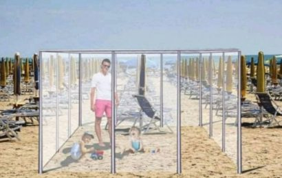 "Italian Beachtowns Plan ""Plexiglass Cages"" To Enforce Safe And Social Distancing Sunbathing This Summer"