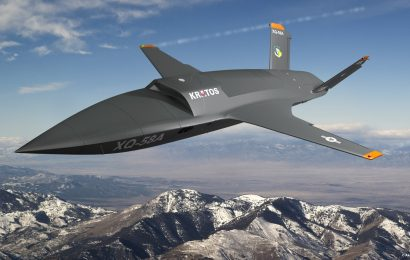 Kratos XQ-58A Valkyrie as a potential platform to carry the Skyborg system