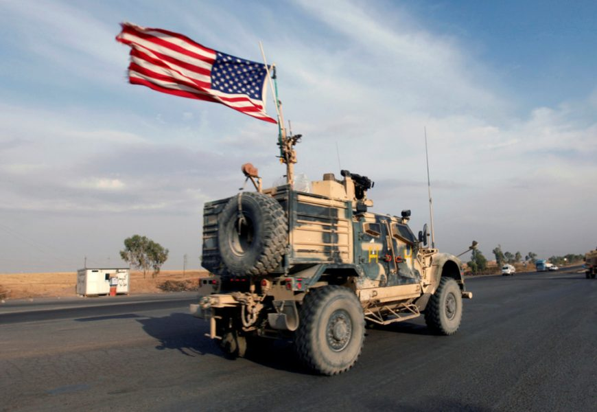 U.S. occupation forces have been spotted fleeing Syria
