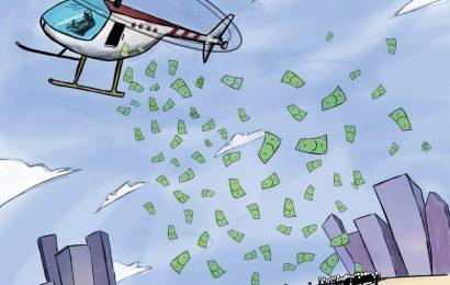 Natixis: Rozdíl mezi Helicopter Money a QE