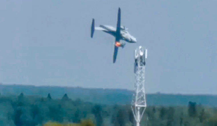 Il-112V prototype military transport aircraft crashes